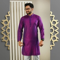 men's semi long panjabi