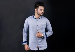 men's full sleeve casual cotton shirt