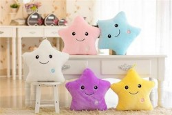 5 colors luminous colorful glowing pillow