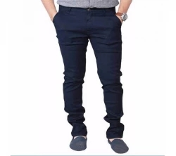 casual stitched gabardine pant for men