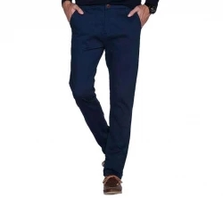 casual stretch gabardin pant (navy blue)