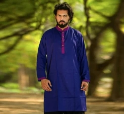 men's cotton semi long punjabi