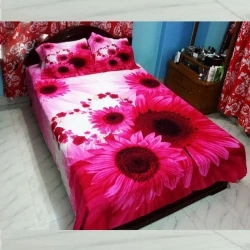 cotton double size bed sheet 4 pic set