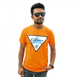 dream df half sleeve cotton t-shirt -orange
