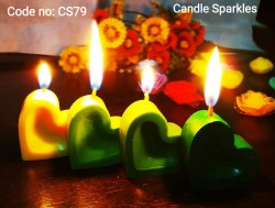love small heart candle